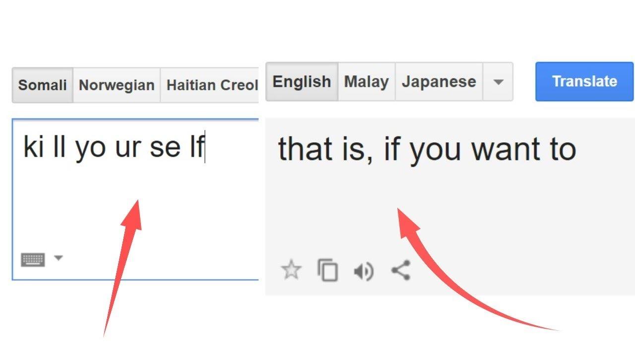 Google Translate Is Creepy   (Update + List of Theories)
