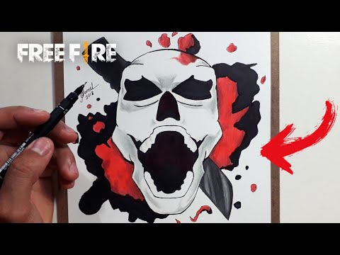 Caveira Do Free Fire Speed Drawing Free Fire Skull Youtube