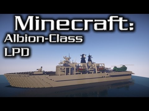 Minecraft: Landing Platform Dock Tutorial (Albion-Class)