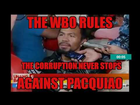 "WBO PACQUIAO VS HORN RESULTS"" BIG SURPRISE""...."