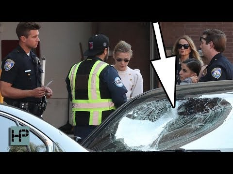 CRAZY!! Man Smashes Actress Jaime King's Windows with a Skateboard