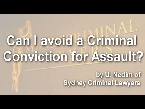 Can I avoid a criminal conviction for assault?