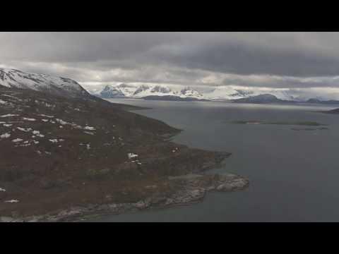 Langfjorden, Langfjordbotn, Burfjord - Flying Over Norway