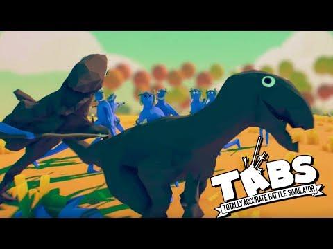 TABS DINOSAURS!  Raptor Attack!  (Totally Accurate Battle Simulator TABS Raptor Gameplay & Sandbox)