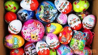 Unboxing New Kinder Joy Toys and 5 Big Surprise Eggs for Boy&Girl Super Mario Mickey Mouse Barbapapa