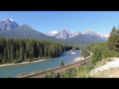 Driving Highway 1A to Lake Louise Gondola - Banff National Park - Alberta - Canada
