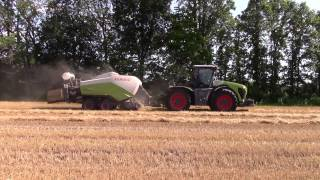 Claas Xerion 4wd Tractor and Big Baler