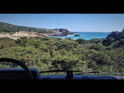 Driving from Praia Ingrina to Vila do Bispo