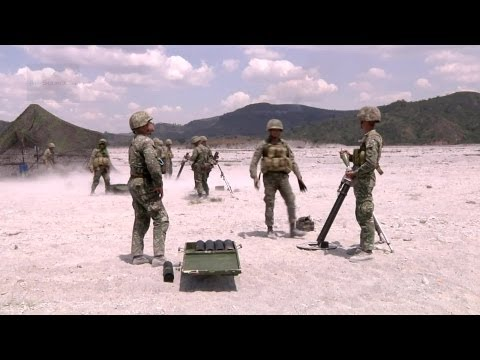 Philippine and U.S. Marines - Mortar & Artillery Fire