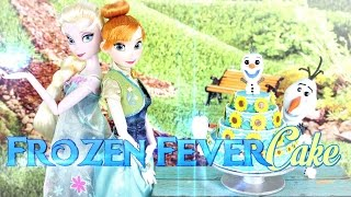 How to Make a Frozen Fever Cake - Doll Crafts