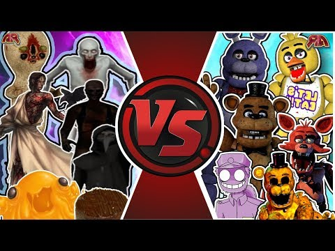 SCP FOUNDATION vs FIVE NIGHTS AT FREDDY'S TOTAL WAR! (FNAF vs SCP Animation) | Cartoon Fight Club
