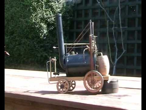 Model Trevithick Puffing Devil Steam Engine trying to escape