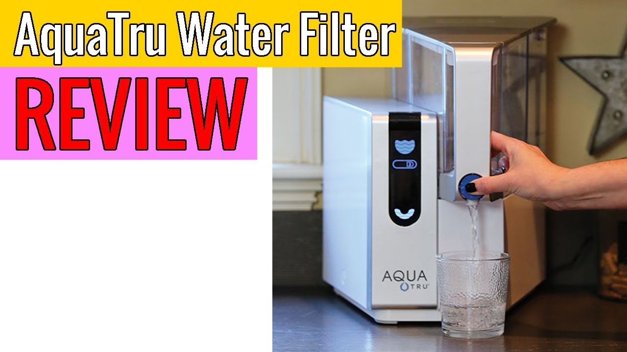Aquatru Countertop Water Filter Purification System Review Youtube