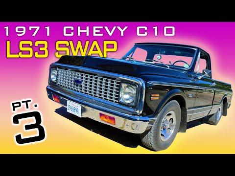 1971 Chevrolet C10 Pickup LS3 4L60 Transmission Swap Video Series Part 3 V8TV