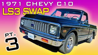 1971 Chevrolet C10 LS3 4L60 Transmission Swap Video Series Part 3 V8 Speed and Resto Shop