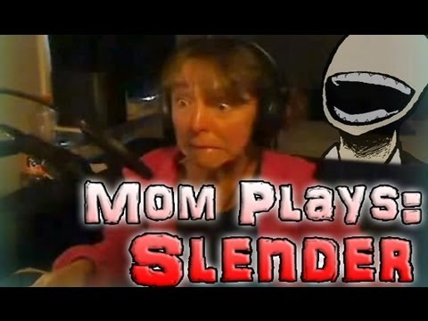My Mom Plays Slender FACECAM (Epic Scream In The End)