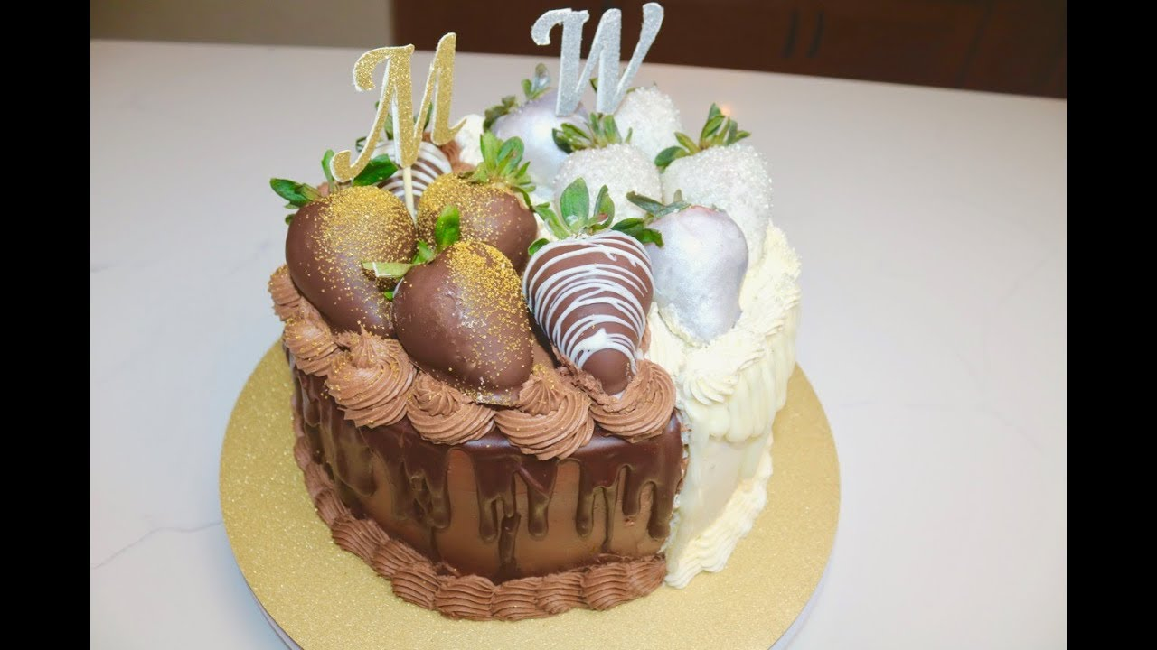 The Best Half And Half Cake Half Chocolate Half Vanilla Cake Youtube