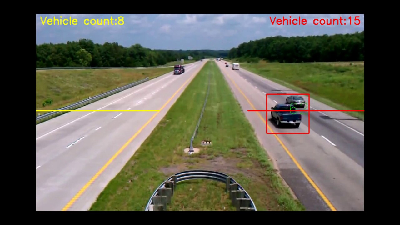 Vehicle Counting by using Blob Detector - OpenCV (Source Code)