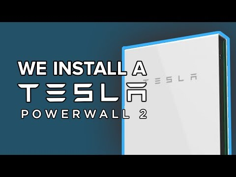 Tesla Powerwall 2 installation