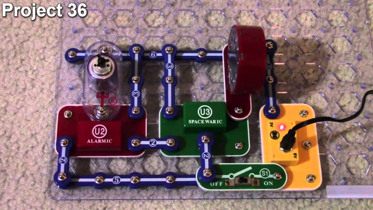 ELENCO Snap Circuits Projects 32 - 44 - YouTube