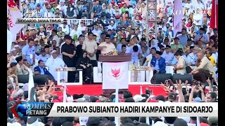 Kampanye di Sidoarjo, Prabowo Bertekad Membentuk Pemerintahan yang Bersih