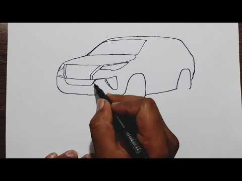 How to draw Toyota Fortuner