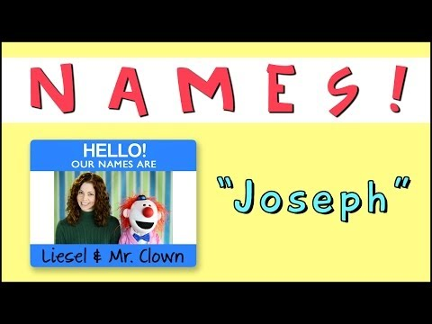"Learning Names with Mr. Clown: ""Joseph"""