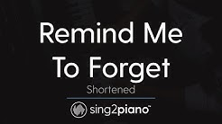 Kygo ft Miguel - Remind Me to Forget instrumental - Free