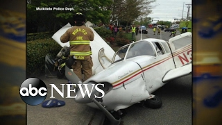 Video captures small plane crash in Washington