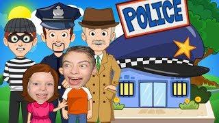 ИГРА MY TOWN ИГРАЕМ ВЕРТОЛЁТОМ И ЗА ПОЛИЦЕЙСКОГО Смешное видео для детей Мой город