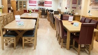 Oak Dining Table Furniture Dartford Kent Orchards Shopping Centre Near Bluewater