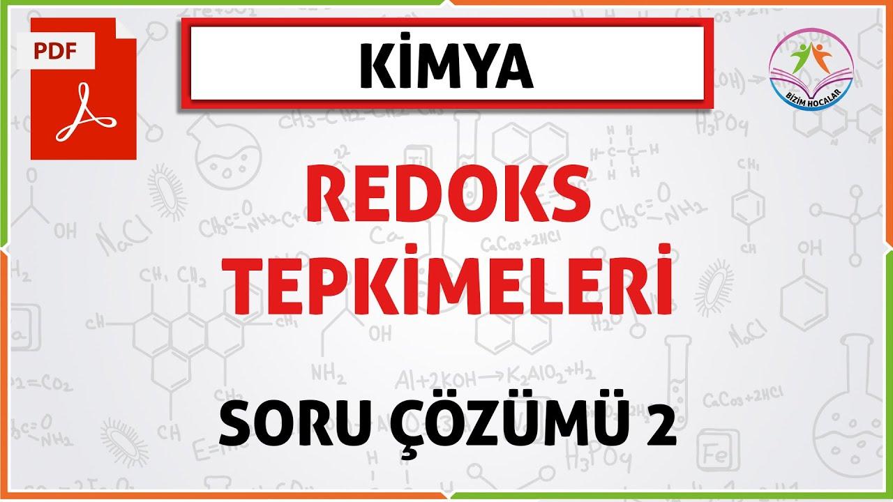 REDOKS TEPKİMELERİ SORU ÇÖZÜMÜ 2 (2020 AYT)
