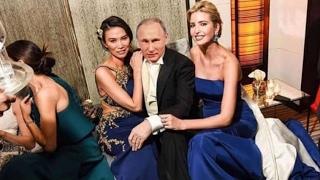 Ivanka trump partying with Vladimir Putin !!
