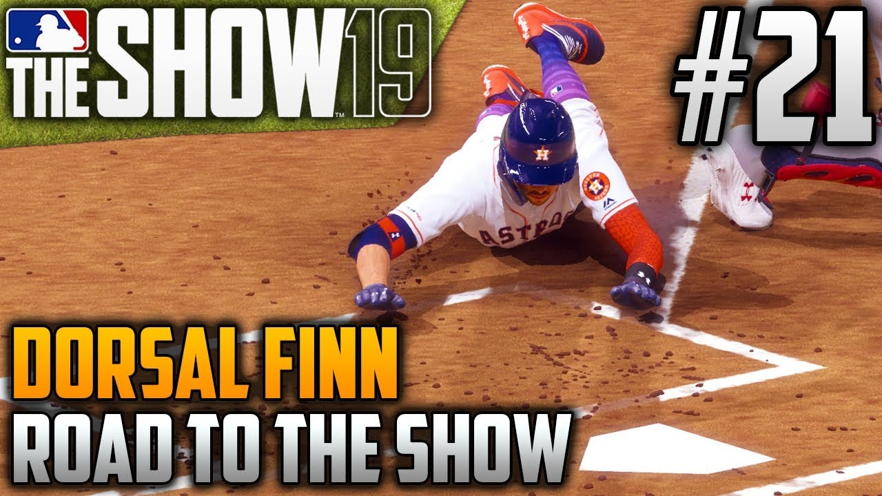 MLB The Show 19 Road to the Show | Dorsal Finn (Catcher) | EP21 | INSIDE-THE-PARK HOME RUN!!!