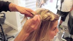 half up knotted braid tutorial by @hairby_chrissy at Habit Salon Gilbert AZ