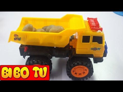 Excavators & Construction Trucks For Kids - Bé Chơi Máy Xúc , Xe Cần Cẩu , ÔTÔ Tải - 掘削機のおもちゃ