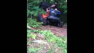 Biggest lawn mower wheelie fail ever