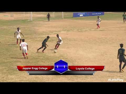 RFYS: Chennai College Boys - Jeppiar Engg College vs Loyola College Highlights