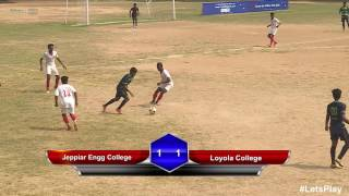 RFYS: Chennai College Boys - Jeppiar Engg College vs Loyola College Highlights