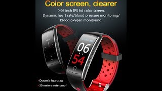 Bakeey Q8S IPS Color Screen Sport Bluetooth IP68 Blood Pressure Smart Watch Wristband