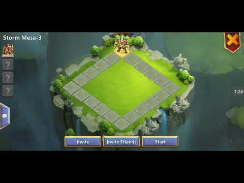 Castle Clash F2P Solo Team Dungeons Mesa 1 To 4. In 1 Single Take