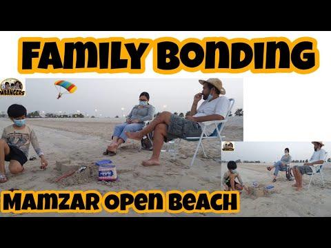 relaxing at mamzar open beach