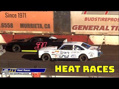 Heat Races: Perris Auto Speedway 1-13-18
