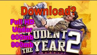 How to download student of the year 2 | latest Bollywood movies | Dharma production
