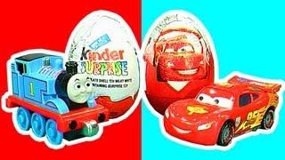 Surprise Eggs Crash Unwrapping Thomas & Percy Vs Lightning McQueen Cars LEOKIMVIDEO