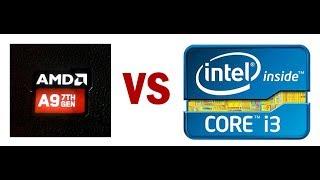 Comparación de procesador o CPU, cual es mejor entre un AMD A9 9400...