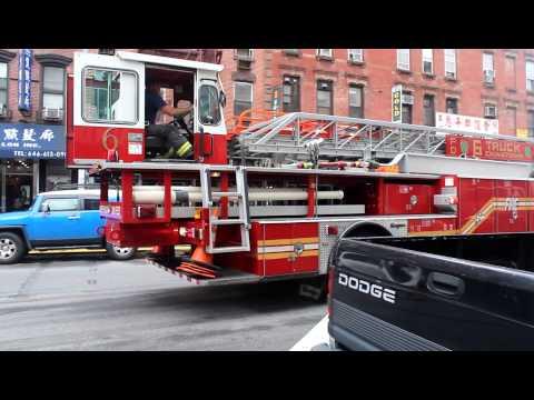 FDNY HD - Tiller Ladder 6 Returning to Quarters