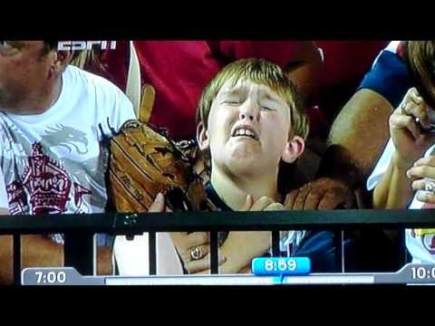 Kid Hit By Pujols Homerun
