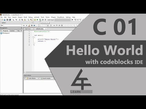 C 01- Writing First C Program | Learn Things