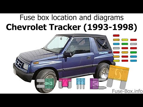 [SCHEMATICS_48EU]  Fuse box location and diagrams: Chevrolet Tracker (1993-1998) - YouTube | Wiring Diagram For 92 Geo Tracker |  | YouTube